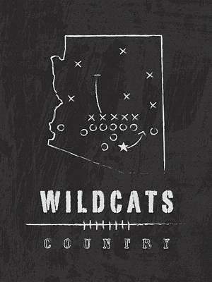 Arizona Wildcats / Ncaa College Football Art / Tucson Art Print by Damon Gray