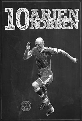 Barcelona Digital Art - Arjen Robben by Semih Yurdabak