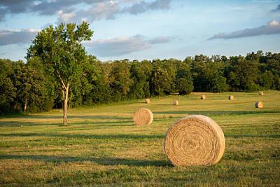 Photograph - Arkansas Hayfield by James Barber