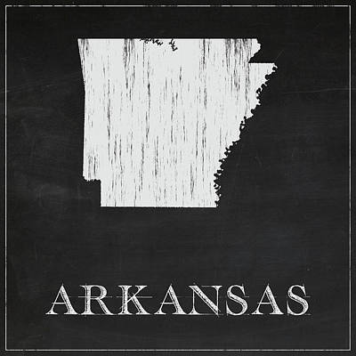 Arkansas Map Art Print by Finlay McNevin