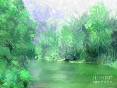 Arkansas Mountain Stream Art Print