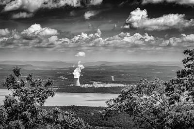 Mount Nebo Photograph - Arkansas Nuclear One In Bw by James Barber
