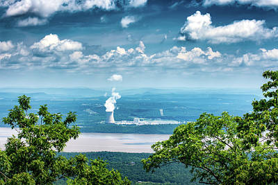 Mount Nebo Photograph - Arkansas Nuclear One by James Barber