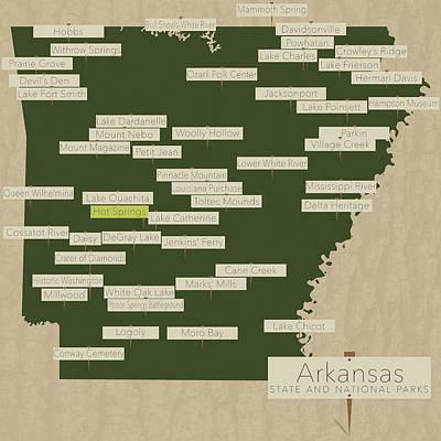 Arkansas Parks - V2 Print by Finlay McNevin