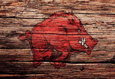 University Of Arkansas Mixed Media - Arkansas Razorbacks 1a by Brian Reaves