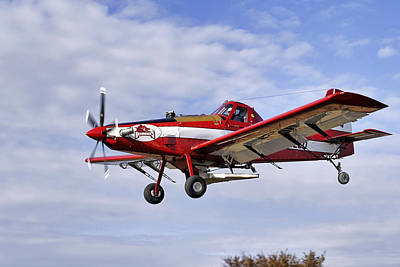 Arkansas Razorbacks Crop Duster Art Print