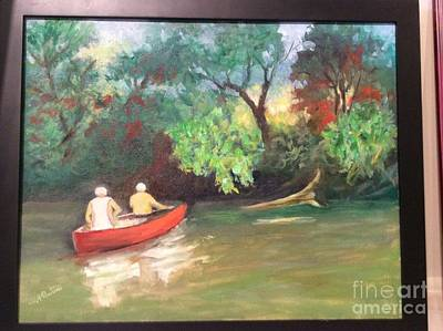 Painting - Arkansas River Float by Marcia Dutton