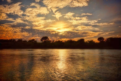 Photograph - Arkansas River Sunset - Photography by Ann Powell
