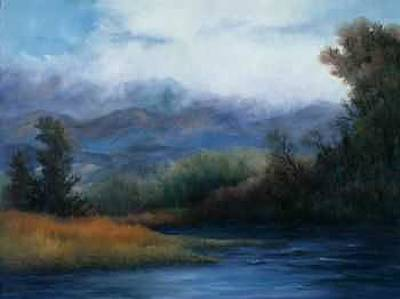 Painting - Arkansas River Valley by Rene Hart
