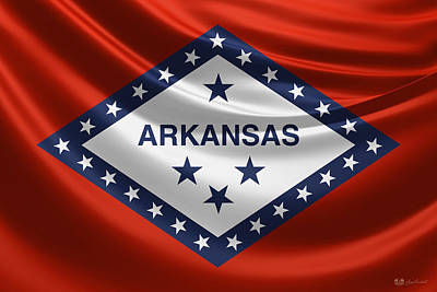 Digital Art - Arkansas State Flag by Serge Averbukh
