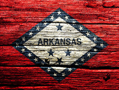 Arkansas State Flag W1 Print by Brian Reaves