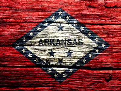 Arkansas State Flag W1 Art Print by Brian Reaves