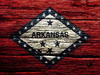 Arkansas State Flag W2 Art Print by Brian Reaves