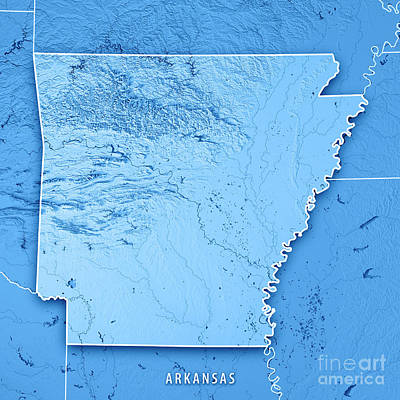 Ozark Mountains Topographic Map.Ozark Mountains Digital Art Fine Art America