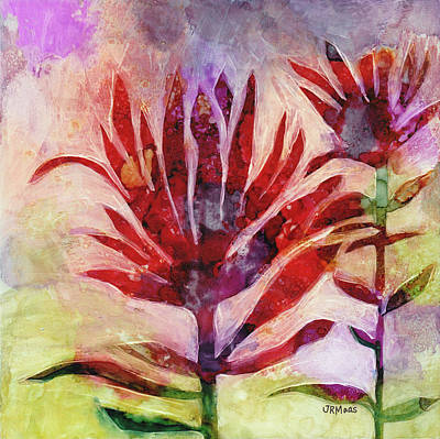 Painting - Arkansas Valley Indian Paintbrush by Julie Maas