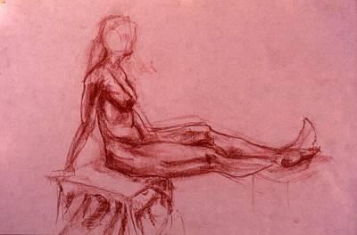 Male Nude Drawing Drawing - Arlene by Chris  Riley