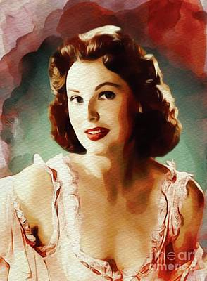 Painting - Arlene Dahl, Vintage Movie Star by John Springfield