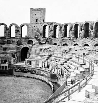 Arles Amphitheater A Roman Arena In Arles - France - C 1929 Art Print by International  Images
