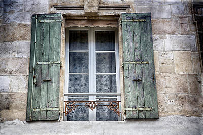 Photograph - Arles France Green Window And Shutters by Gigi Ebert