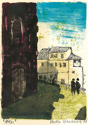 Art Print featuring the painting Arles Near Arena Provence by Martin Stankewitz