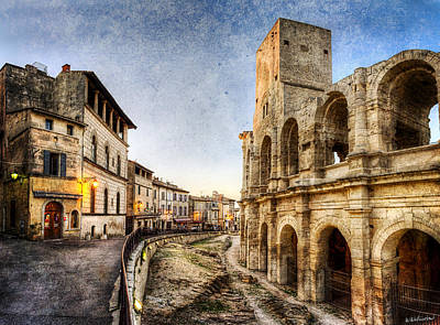 Photograph - Arles Streets And Arena - Vintage Version by Weston Westmoreland