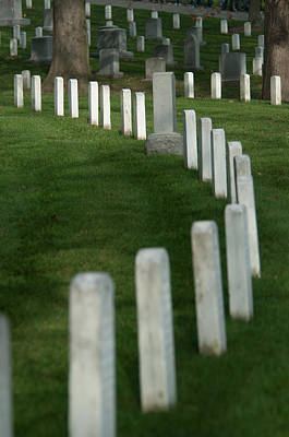 Photograph - Arlington Cemetary- Civil War Area by Brian Green