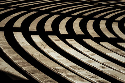 Photograph - Arlington Cemetery Amphitheater Benches by Stuart Litoff
