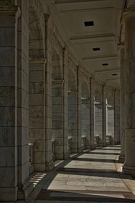 Photograph - Arlington Cemetery Amphitheater Colonnade by Stuart Litoff