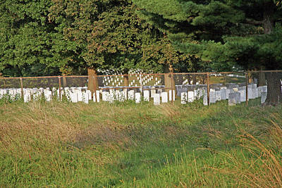 Photograph - Arlington National Cemetery Behind A Barbed Wire Fence by Cora Wandel