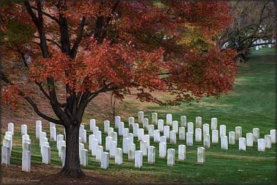 Photograph - Arlington Cemetery by Erika Fawcett