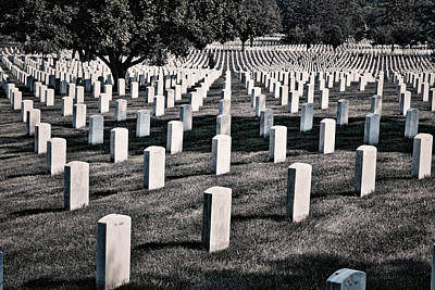 Photograph - Arlington Cemetery Graves #3 by Stuart Litoff