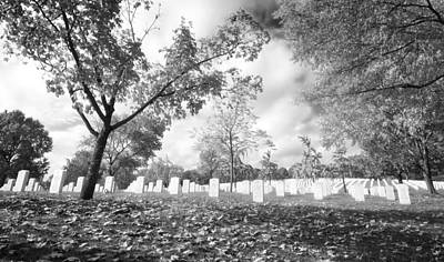 Photograph - Arlington In Black And White by Mark Andrew Thomas