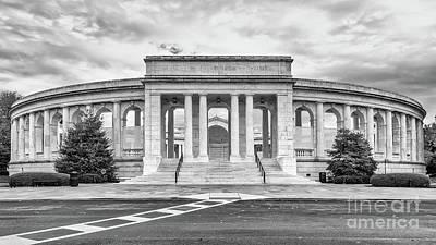 Arlington Memorial Amphitheater Bw Art Print by Jerry Fornarotto