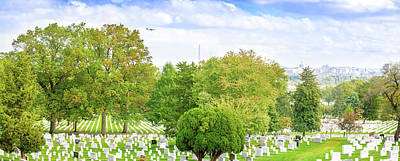 Photograph - Arlington National Cemetery Panorama by Mark Andrew Thomas