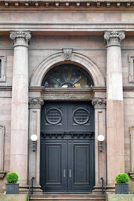 Photograph - Arlington Street Church Entry by Robert Meyers-Lussier
