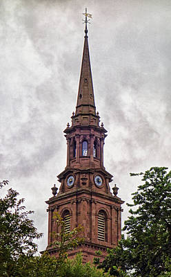 Photograph - Arlington Street Church Steeple by Robert Meyers-Lussier