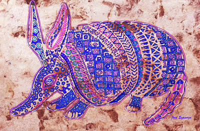 Painting - Armadillo by J- J- Espinoza
