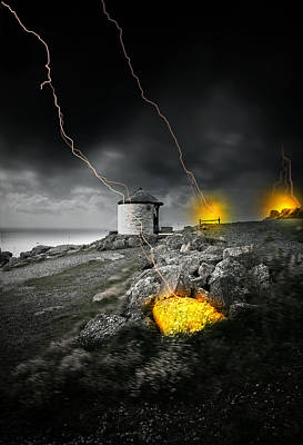 Thunderstorm Digital Art - Armageddon by Jaroslaw Grudzinski