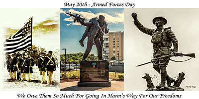 Doughboy Photograph - Armed Forces Day Tribute by Mark Fuge
