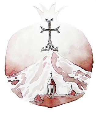 Monastery Mixed Media - Armenia by Barbara Fowler