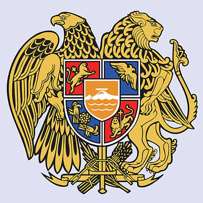 David Drawing - Armenia Coat Of Arms by Movie Poster Prints