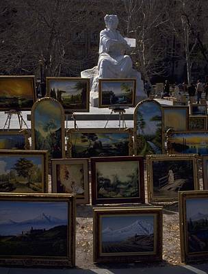 Photograph - Armenian Art In The Park by Travel Pics