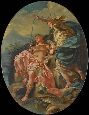 Painting - Armida And The Sleeping Rinaldo by Claudio Francesco Beaumont