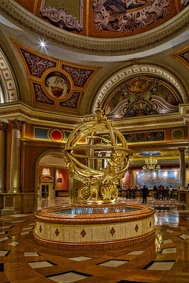 Photograph - Armillary Sphere Of The Venetian by Susan Candelario