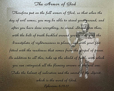 Photograph - Armor Of God by Leticia Latocki