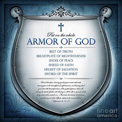 Digital Art - Armor Of God by Shevon Johnson