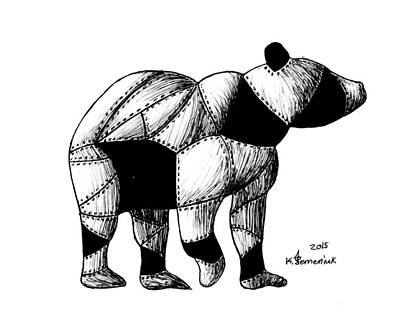 Drawing - Armored Bear by Kayleigh Semeniuk
