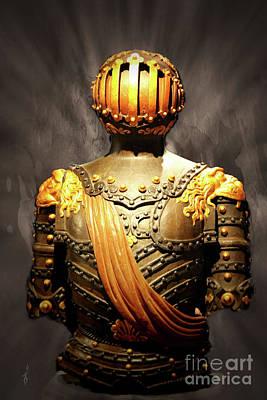 Digital Art - Armored Warrior by Gina Geldbach-Hall