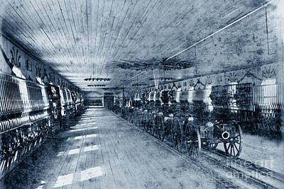 Photograph - Armory At U S Naval Academy 1870 by California Views Mr Pat Hathaway Archives