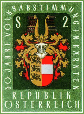 Painting - Arms Of Carinthia by Lanjee Chee